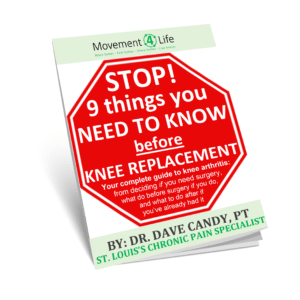 Knee Arthritis Replacement Pain Relief Movement 4 Life Physical Therapy St. Louis MO 63011 63119 63125 Manchester