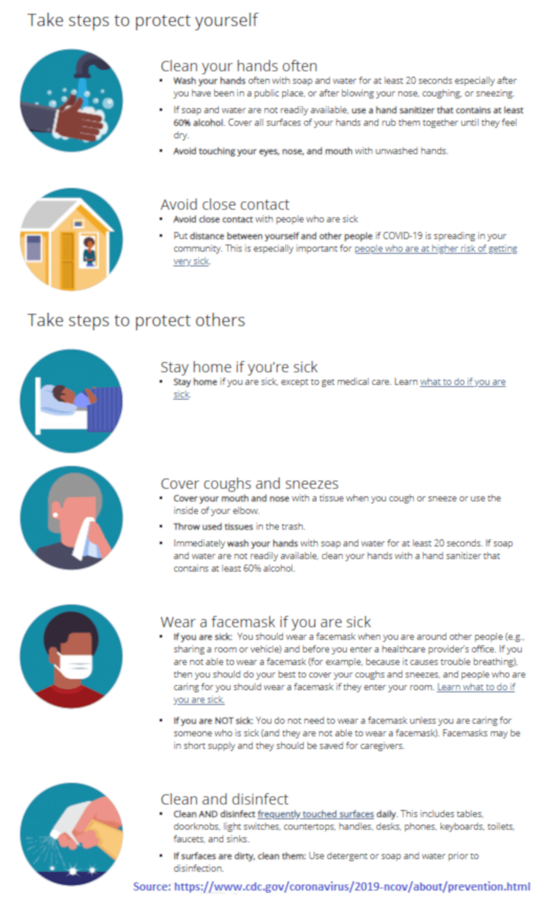 Coronavirus (COVID-19) - Steps To Protect Yourself & Others. Embed this image on your website:
