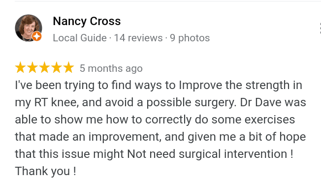 Nancy C.- Knee Review