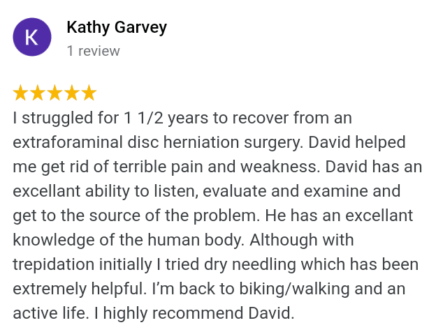 5 star back disc herniation back pain dry needling review