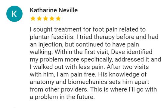 Katharine - Plantar fasciitis review