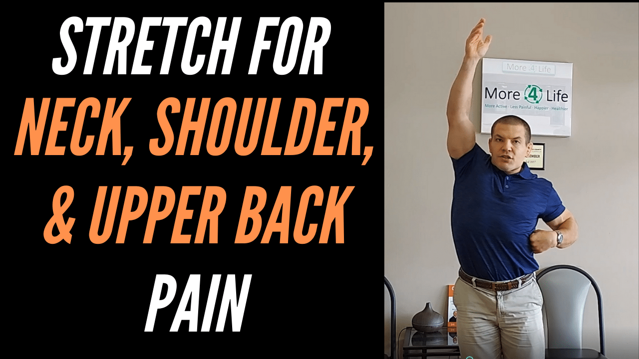 neck and shoulder pain stretches to relieve neck shoulder and upper back pain